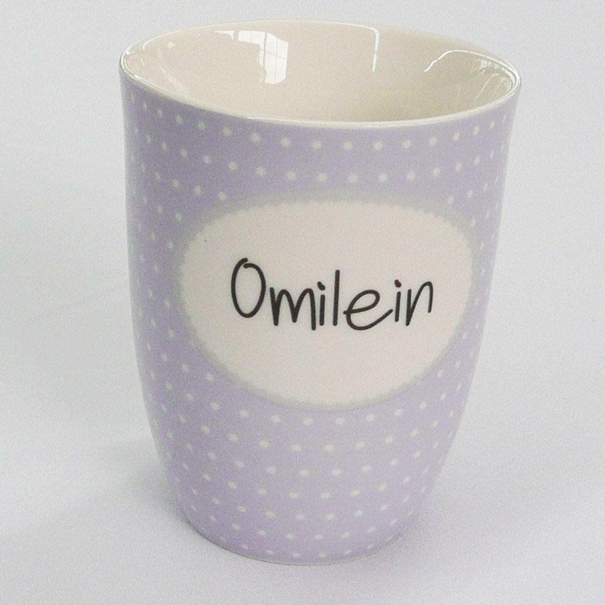 mea living kaffee tasse becher mit spruch omilein wohnen kochen und genie en geschirr gl ser. Black Bedroom Furniture Sets. Home Design Ideas