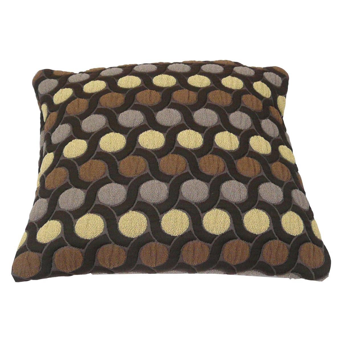 kissen dekokissen braun mit punkten 40x40cm wohntextilien. Black Bedroom Furniture Sets. Home Design Ideas