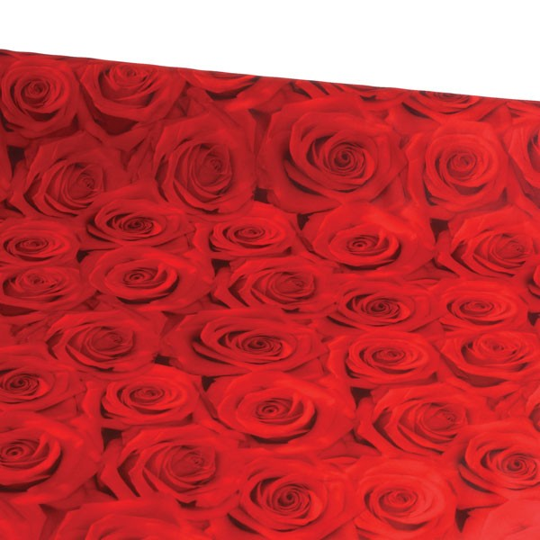 dekostoff stoff dekoration 150x250cm rosen wohnen dekomaterial b nder textildeko stoffe abgepackt. Black Bedroom Furniture Sets. Home Design Ideas