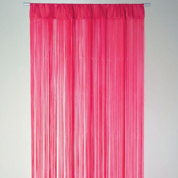 Fadenvorhang t rvorhang fadengardine 100x250cm waterfall for Gardinen pink