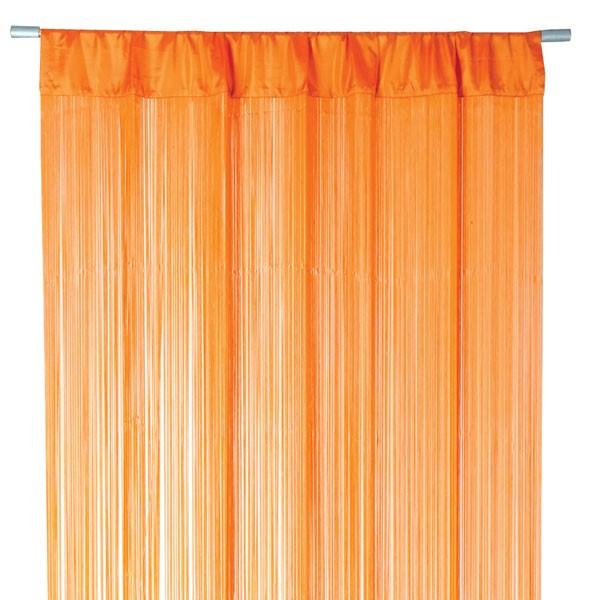 fadenvorhang t rvorhang fadengardine 100x250cm waterfall orange gardinen fertiggardinen. Black Bedroom Furniture Sets. Home Design Ideas