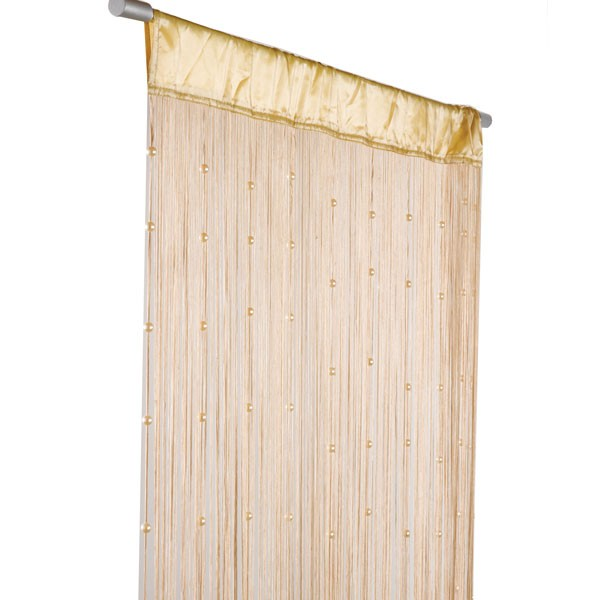 fadenvorhang t rvorhang insektenschutz perlen 90x250cm helena beige gardinen fertiggardinen. Black Bedroom Furniture Sets. Home Design Ideas