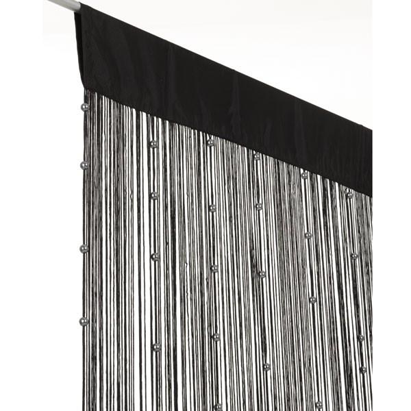 fadenvorhang fadengardine t rvorhang perlen 90x250cm helena schwarz gardinen fertiggardinen. Black Bedroom Furniture Sets. Home Design Ideas