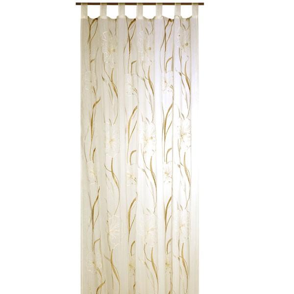 schlaufenschal fertigvorhang fertigschal vorhang 140x245cm hibiscus gardinen. Black Bedroom Furniture Sets. Home Design Ideas