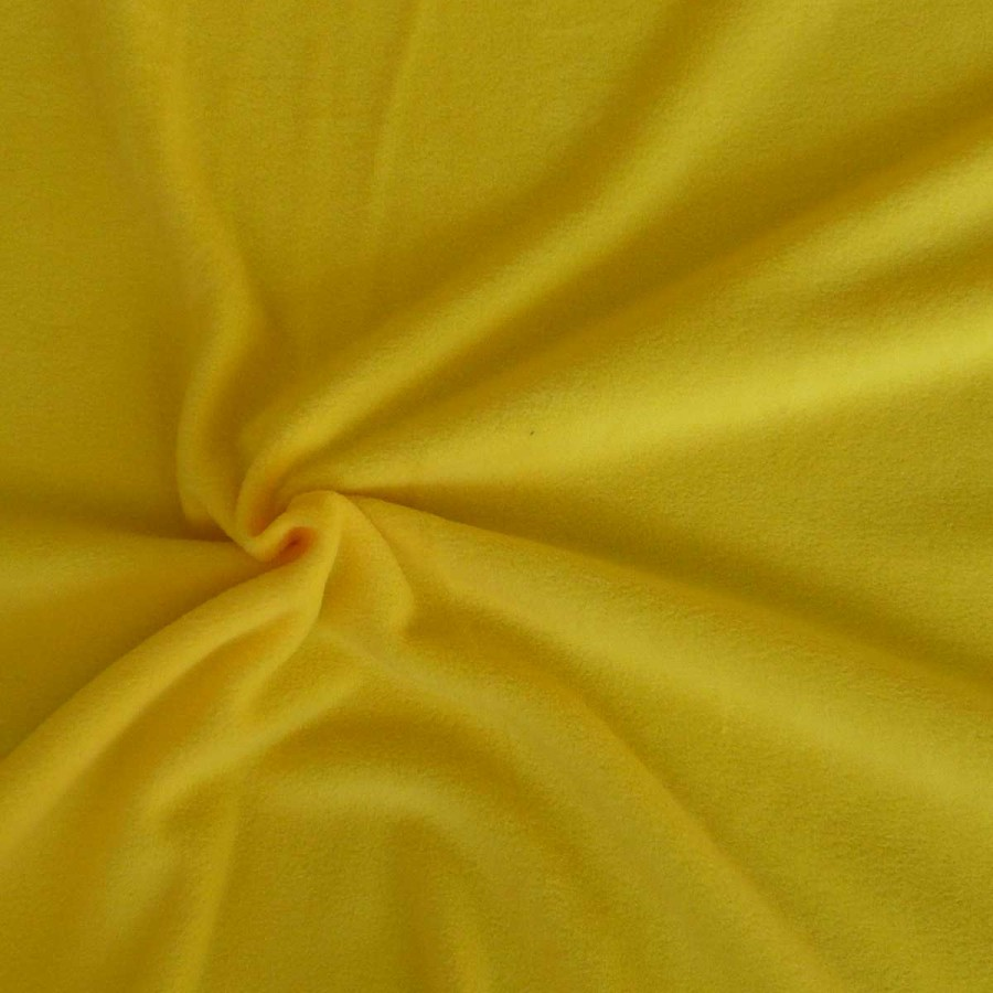 polar fleece stoffe fleecestoff antipilling gelb stoffe stoffe uni fleece. Black Bedroom Furniture Sets. Home Design Ideas