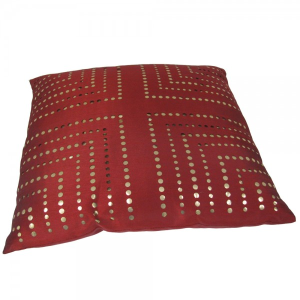 kissen dekokissen f llung 47x47cm morena rot goldfarben. Black Bedroom Furniture Sets. Home Design Ideas