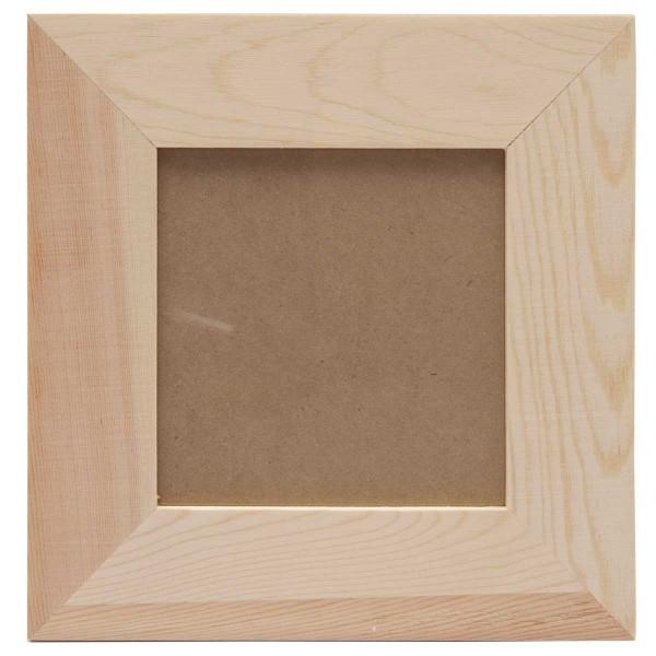 bilderrahmen holzrahmen zum selbstgestalten 21x21cm n hzubeh r basteln malen. Black Bedroom Furniture Sets. Home Design Ideas