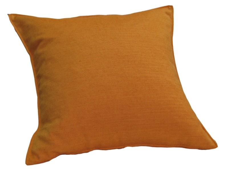 vom hof kissen dekokissen mit f llung milano 60x60 mandarine wohntextilien kissen klassisch uni. Black Bedroom Furniture Sets. Home Design Ideas