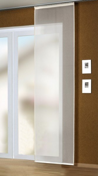 schiebevorhang fl chenvorhang fertiggardine 60x245cm voile wollwei gardinen fertiggardinen. Black Bedroom Furniture Sets. Home Design Ideas